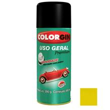 Tinta Spray Uso Geral Colorgin Brilho Amarelo 400ml