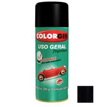 Tinta Spray Uso Geral Colorgin Brilho Preto Rápido 400ml