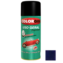 Tinta Spray Uso Geral Colorgin Metalico Azul Angra 400ml