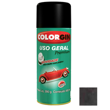 Tinta Spray Uso Geral Colorgin Metalico Grafite Executivo 400ml
