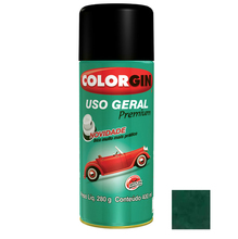 Tinta Spray Uso Geral Colorgin Metalico Verde Amazonas 400ml