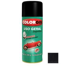Tinta Spray Uso Geral Colorgin Preto Fosco 400ml