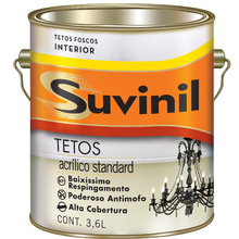 Tinta Específica Teto Fosco Suvinil 3,6L Neve