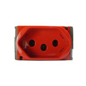 Tomada de Energia 10A 250V Vermelho Nereya Pial Legrand
