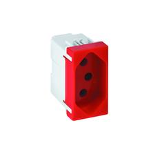 Tomada de Energia 10A 250V Vermelho S19 Simon