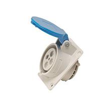 Tomada Industrial de Embutir Azul 2 Polos+Terra 200/250V 16A Steck