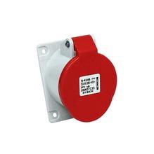 Tomada Industrial de Embutir Vermelha 2 Polos+Terra 380/440V 16A Steck