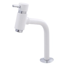Torneira Convencional para Banheiro Mesa Bica Fixa Alta Branco Bello White 5194355 Romar