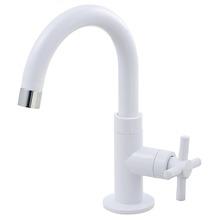 Torneira Convencional para Banheiro Mesa Bica Móvel Alta Branco Fienza 1170003 Viqua