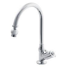 Torneira Convencional para Banheiro Mesa Bica Móvel Alta Cromado Line Clean Realce 911045425 Forusi