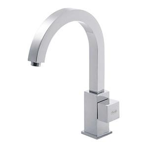 Torneira Convencional para Banheiro Mesa Bica Móvel Alta Cromado Perfetto Cubo 911082325 Forusi