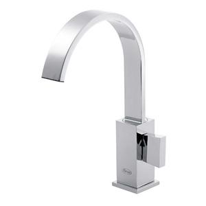 Torneira Convencional para Banheiro Mesa Bica Móvel Alta Cromado Perfetto 911082125 Forusi
