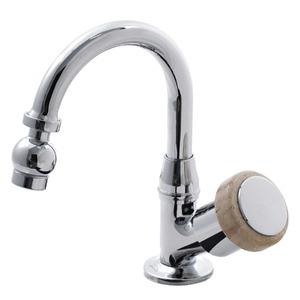 Torneira Convencional para Banheiro Mesa Bica Móvel Alta Cromado Saturno Travertino 911001925 Forusi