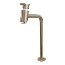 Torneira Convencional para Banheiro Mesa Bica Fixa Alta Inox Escovado Bello Inox 5195255 Romar