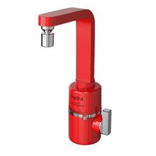 Torneira Elétrica para Pia de Cozinha 127V (110V) Vermelho Slim 4T Hydra Corona