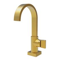 Torneira para Banheiro Mesa Bica Alta Dourada Prima 1195 Fani