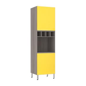Torre de Cozinha 220x61x53cm Amarelo  Prime Luciane