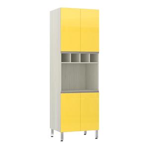 Torre de Cozinha 220x70x53cm Amarelo  Prime Luciane