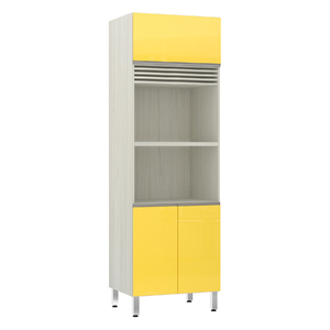 Torre de Cozinha Microondas 220x70x53cm Amarelo Prime Luciane