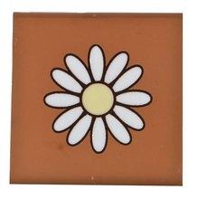 Tozeto 8 x 8 cm Cerâmica Natural Marguerita Decorado Fênix