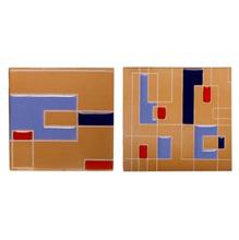 Tozeto Cerâmica Acetinado Retro Azul  11,5x11,5cm Fênix