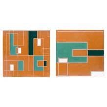 Tozeto Cerâmica Acetinado Retro Verde 11,5x11,5cm Fênix