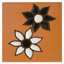Tozeto Cerâmica Acetinado Margarida 8x8cm Fênix