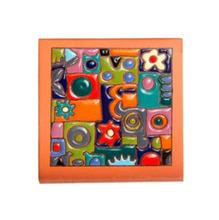 Tozeto Cerâmica Acetinado Patchwork Policromia 11,5x11,5cm Fênix