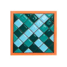 Tozeto Cerâmica Acetinado Retro Piscinaverde  11,5x11,5cm Fênix