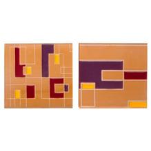 Tozeto Cerâmica Acetinado Retro Roxo  11,5x11,5cm Fênix