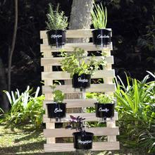 a6881c568852c Treliça para Horta Vertical 100x60cm + 6 Suportes + 6 Vasos A
