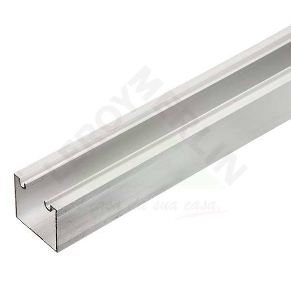 Trilho para porta de correr 3m alum nio prata leroy merlin for Perfil u aluminio leroy merlin