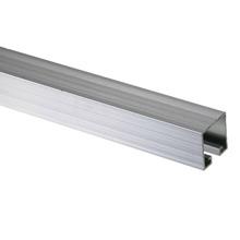 Trilho Stanley Alumínio Natural Para Portão 2 m U-163 Decal Alumínio