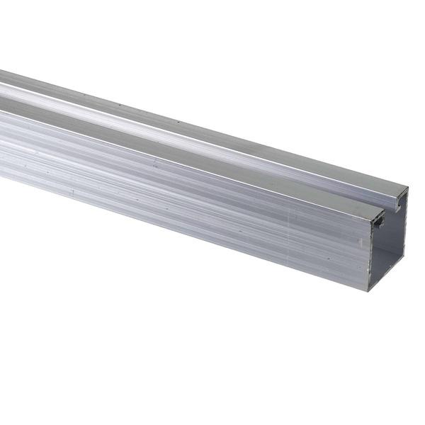 Trilho stanley para porta de correr 2m alum nio prata for Perfil u aluminio leroy merlin