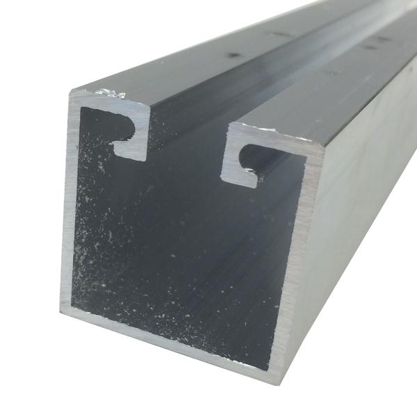 Trilho stanley para porta de correr 3m alum nio prata for Perfil u aluminio leroy merlin