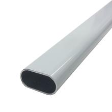 Tubo Oval para Cabide Alumínio Pintado Branco 3m
