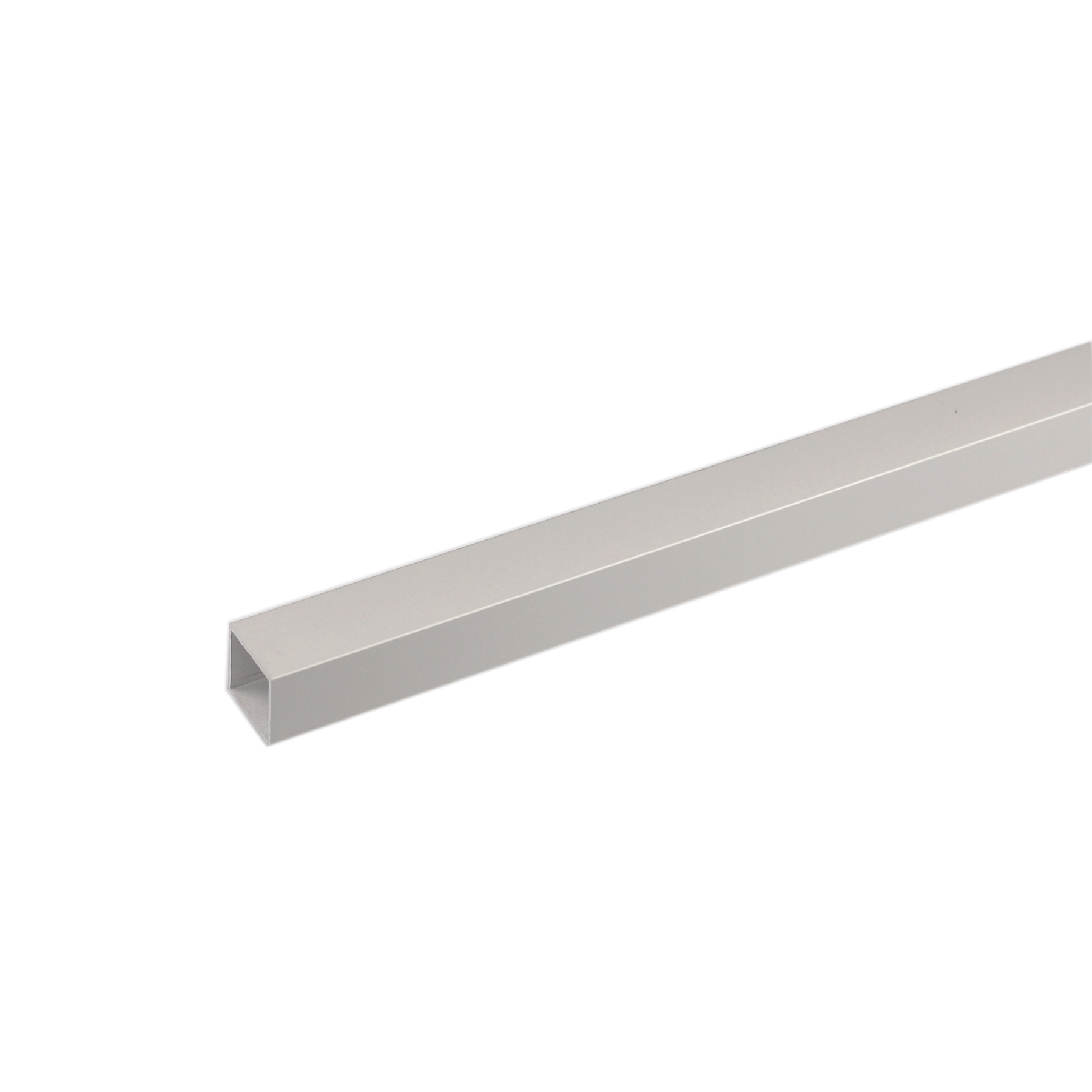 Perfil alum nio tubo quadrado 2mx10x10mm anodizado leroy for Perfil u aluminio leroy merlin