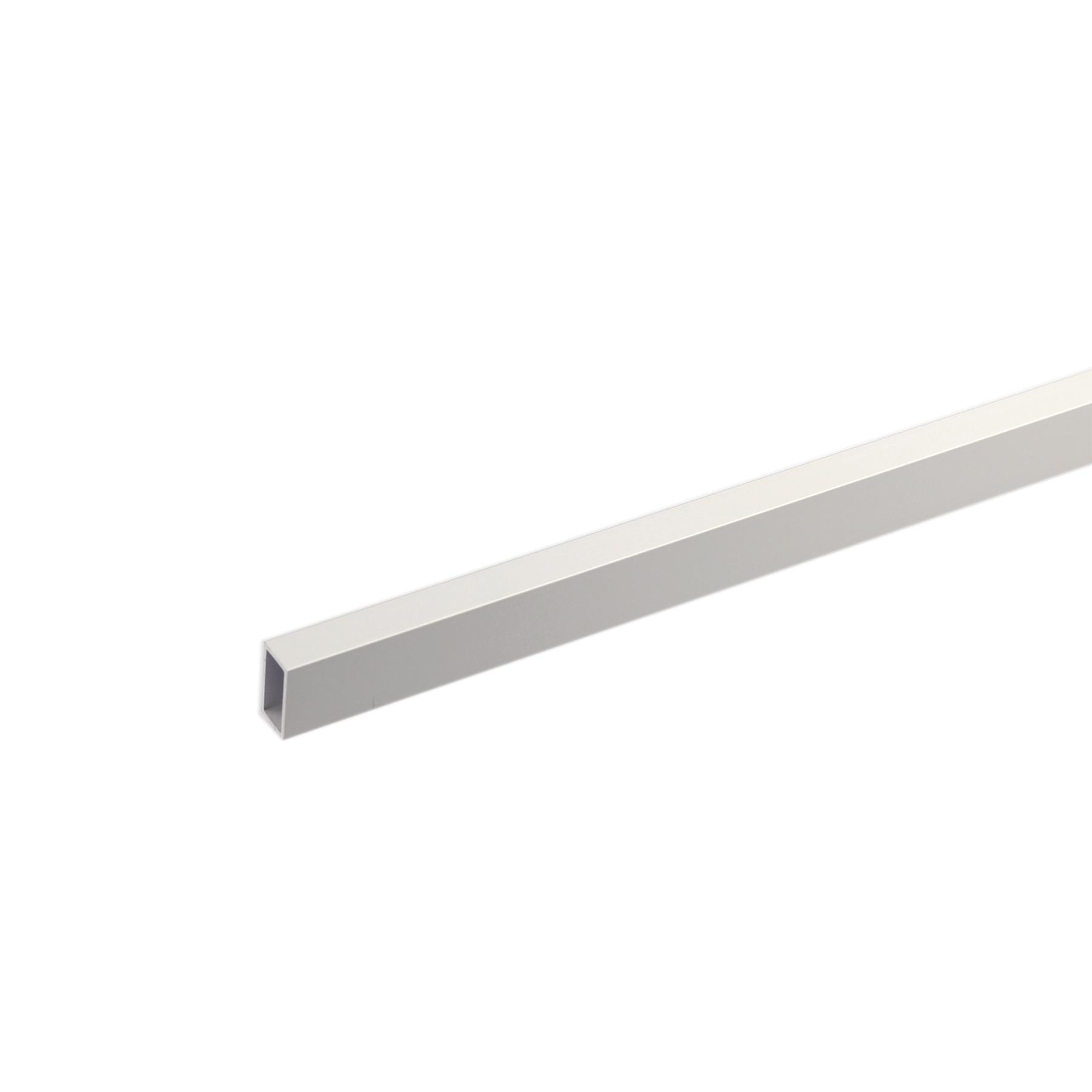Tubo Retangular Alumínio Anodizado 1mx20cm