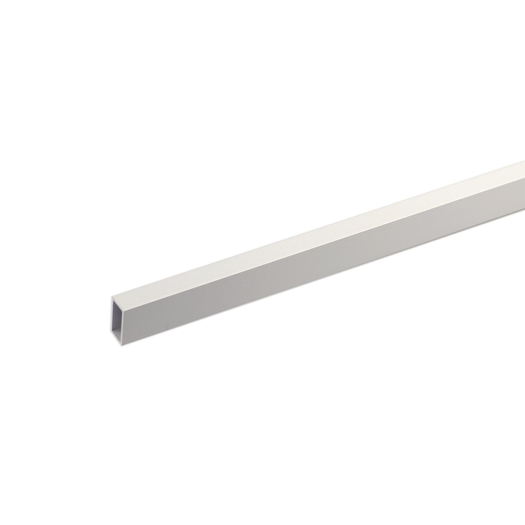 Perfil alum nio tubo retangular 1mx40x20mm anodizado for Perfil u aluminio leroy merlin