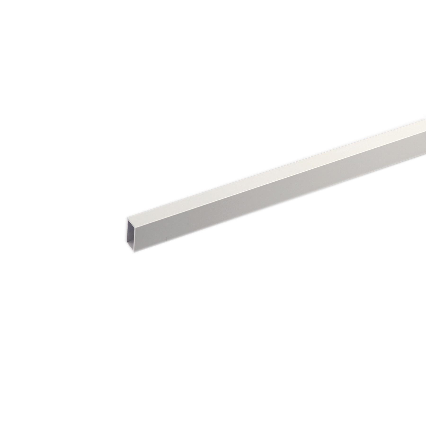 Tubo Retangular Alumínio Anodizado 2mx20cm