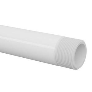 TUBO ROSCAVEL PVC BRANCO DIAMETRO 25,40 MM BARRA 3,00M UTILIZACAO AGUA FRIA PRESSAO OPERACAO MAXIMA 7,50 KGF/CM TEMP OPER MAX 20 ºC NBR 5626 TIGRE
