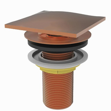 Válvula de Escoamento para Lavatório Metal Longa Cobre Click Fani