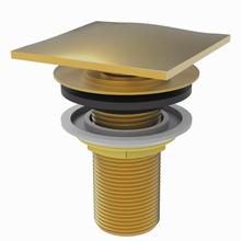 Válvula de Escoamento para Lavatório Metal Longa Dourado Click Fani