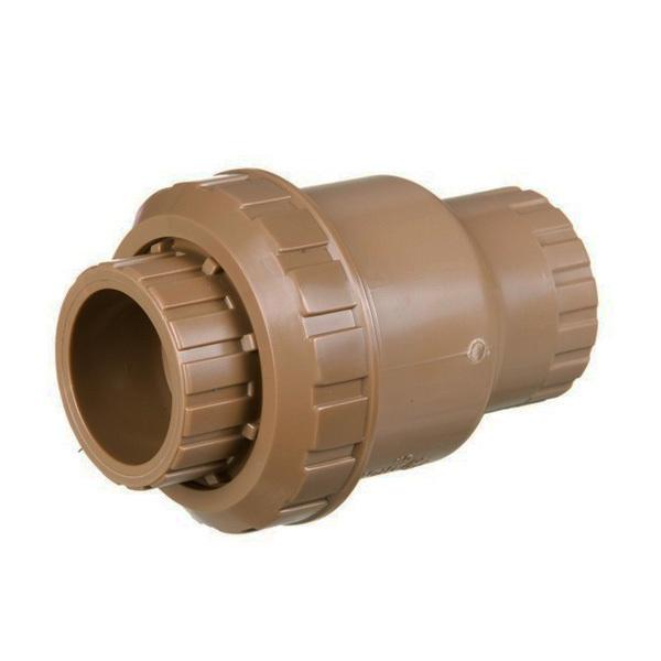V lvula de reten o marrom pvc sold vel 50mm ou 1 1 2 for Canaletas de agua leroy merlin