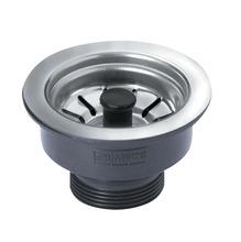 """Válvula para Pia de Cozinha Aço/Plástico Inox 3 1/2X1 1/2"""" Curta Sem Ladrão Franke"""