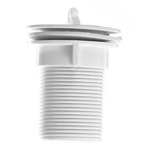 """Válvula para Tanque Plástico Branco 2.3/8""""x1.1/4"""" Longa  Sem Ladrão  VIP"""
