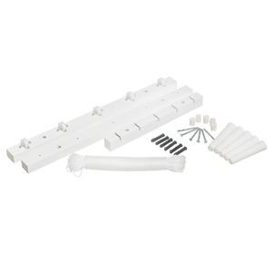 Varal Cabo Madeira e Plástico Branco 6x9,5x50cm Secamais