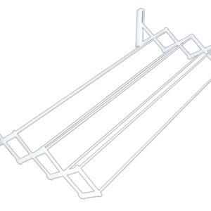 Varal Sanfonado Aço Branco 42x80x16 cm MOR