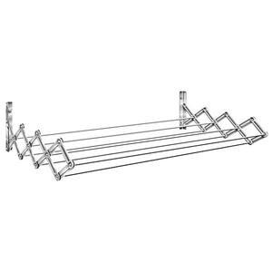 Varal Sanfonado Aço Prata 80x16x42cm Secalux