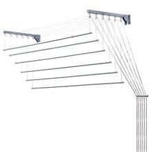 Varal Teto/ Parede Aço Peças Brancas 1,20x56cm Secalux